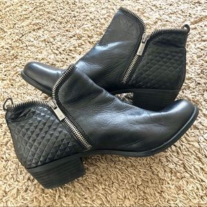 Lucky Brand black leather booties, size 7.5